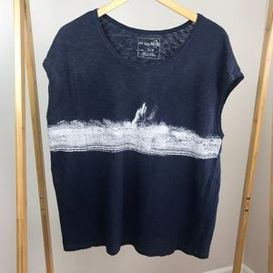 We the Free FP • Navy Blue Muscle Tee Size Small